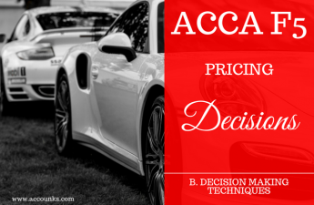 B4- Pricing Decisions