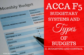 C1- Budgetary Systems and Types of Budgets