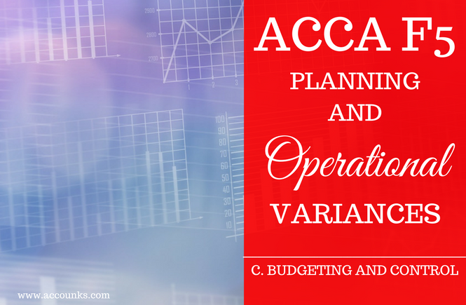 C6- Planning and Operational Variances