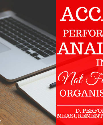D6- Performance Analysis in Not For Profit Organisations and the Public Sector
