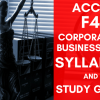 ACCA F4 Corporate and Business Law Syllabus and Study Guide