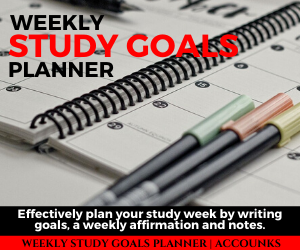 Accounks - Weekly Study Goals Planner Ad- Updated